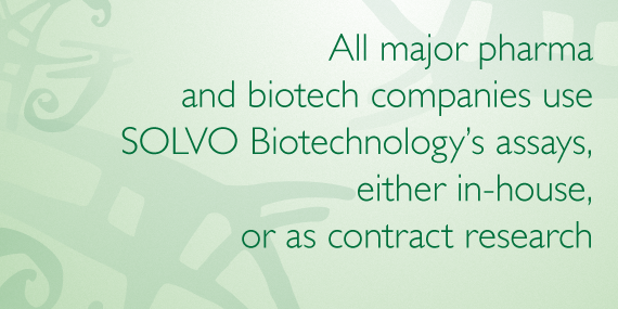 All major pharma and biotech companies use SOLVO Biotechnology's assays, either in house, or as contracted research.